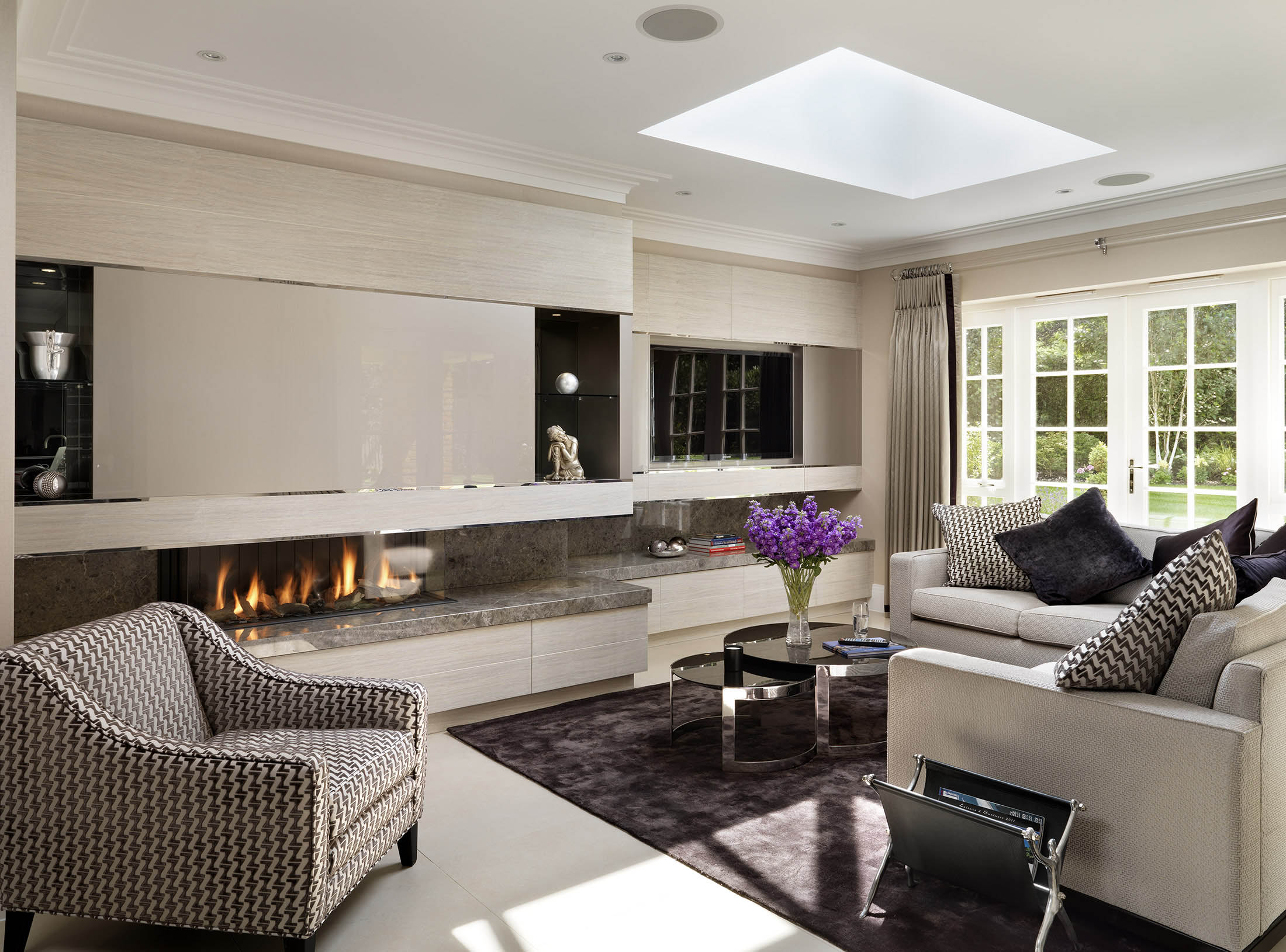 luxury interior designer living space design for new-build property